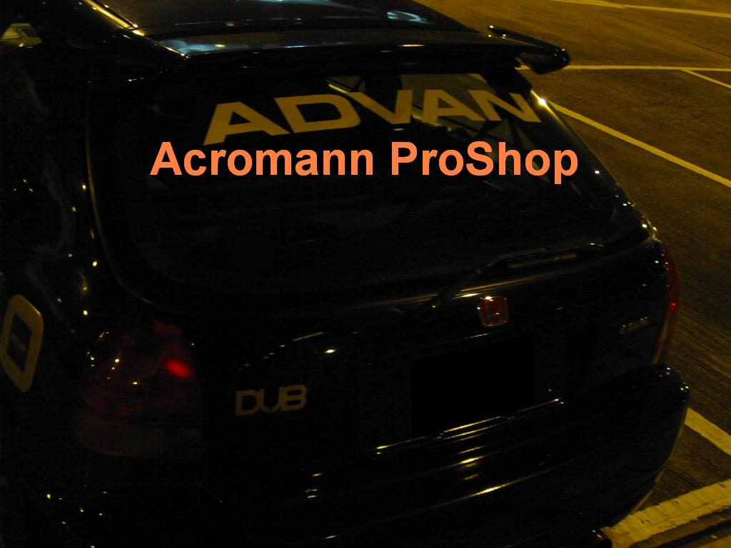 ADVAN Windshield Decal (Style#9)