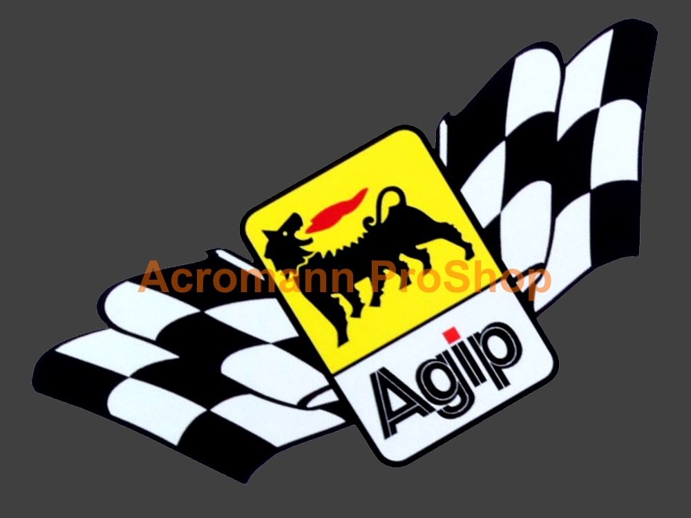 Agip 6inch Decal (Style#7) x 2 pcs