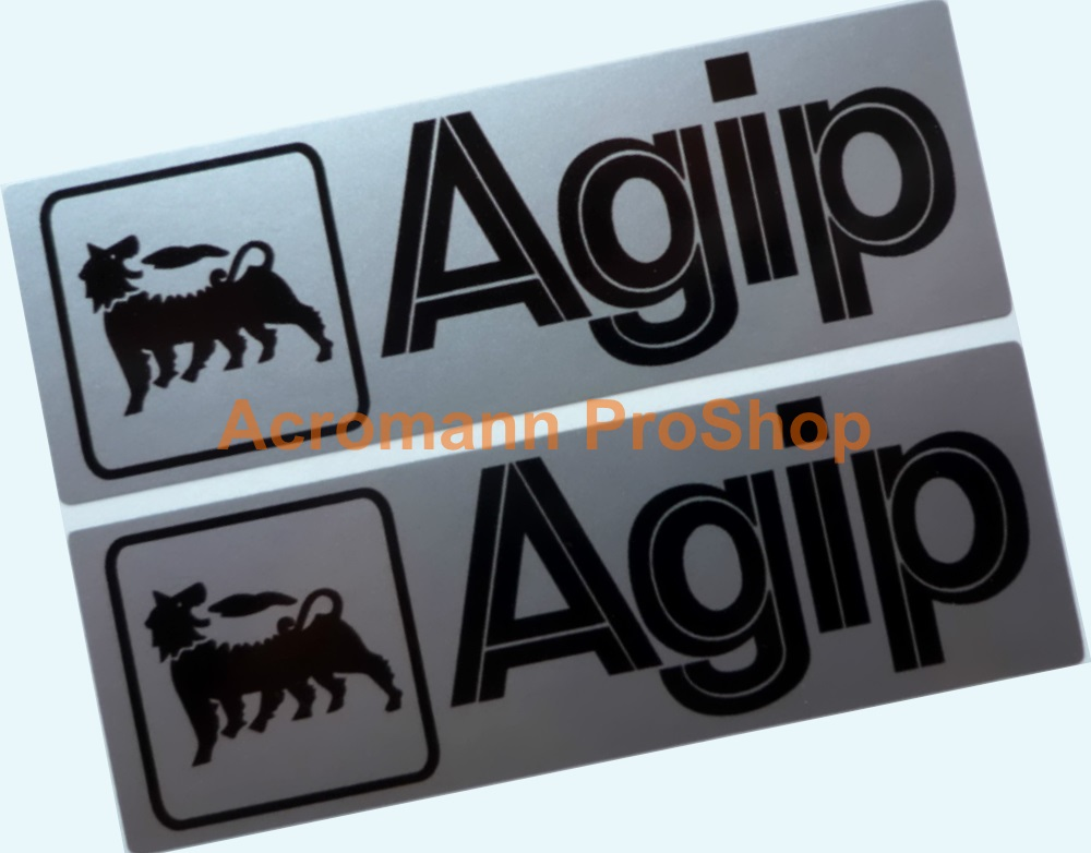 Agip 6inch Decal (Style#8) x 2 pcs
