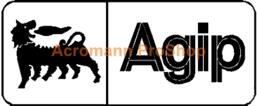 Agip 6inch Decal (Style#9) x 2 pcs