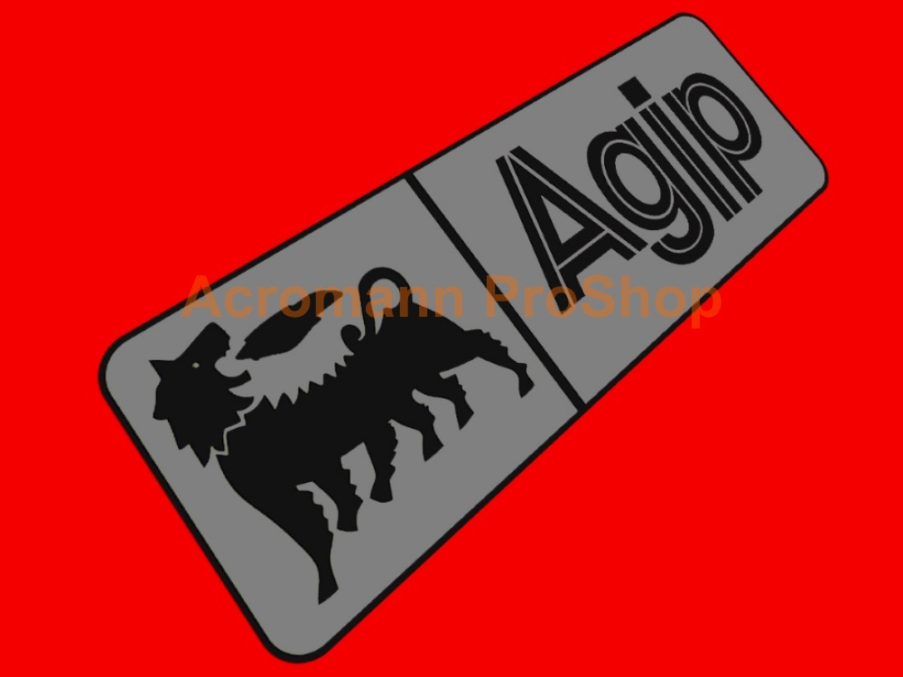 Agip 6inch Decal (Style#12) x 2 pcs