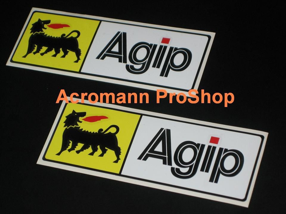Agip 6inch Decal (Style#2) x 2 pcs