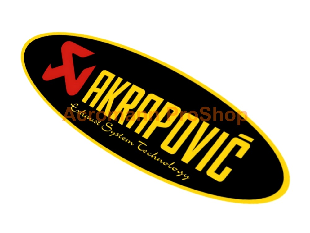 Akrapovic 6inch Decal (Style#6) x 2 pcs