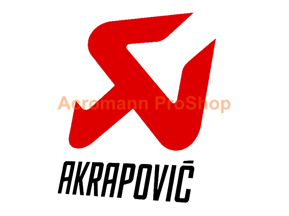 Akrapovic 4inch Decal (Style#2) x 2 pcs
