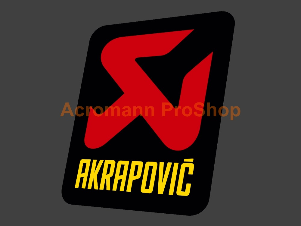 Akrapovic 4inch Decal (Style#4) x 2 pcs