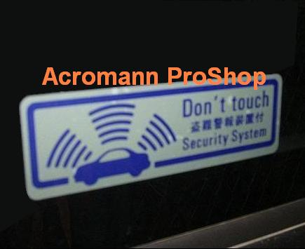 Alarm Security Warning Kanji 6inch Decal (Style#2) x 2 pcs