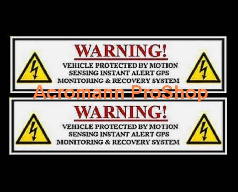 Alarm Security Warning 6inch Decal (Style#1) x 2 pcs
