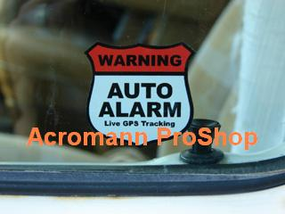 Alarm Security Warning 3inch Decal (Style#2) x 2 pcs