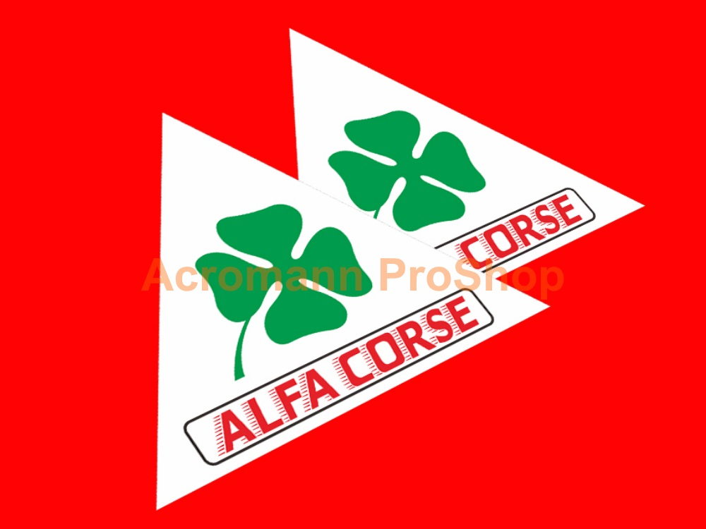 ALFA CORSE Clover Leaf 4inch Triangle Decal (Style#2) x 2 pcs