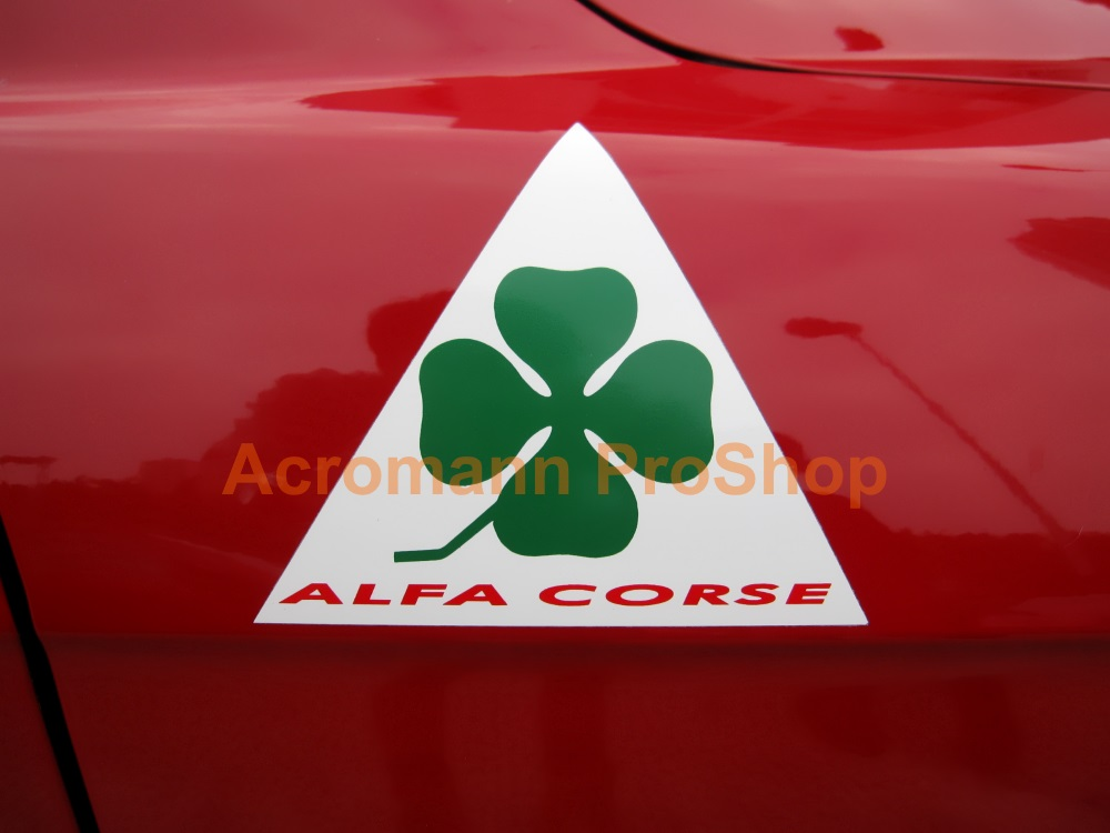 ALFA CORSE Clover Leaf 4inch Triangle Decal (Style#5) x 1 pair