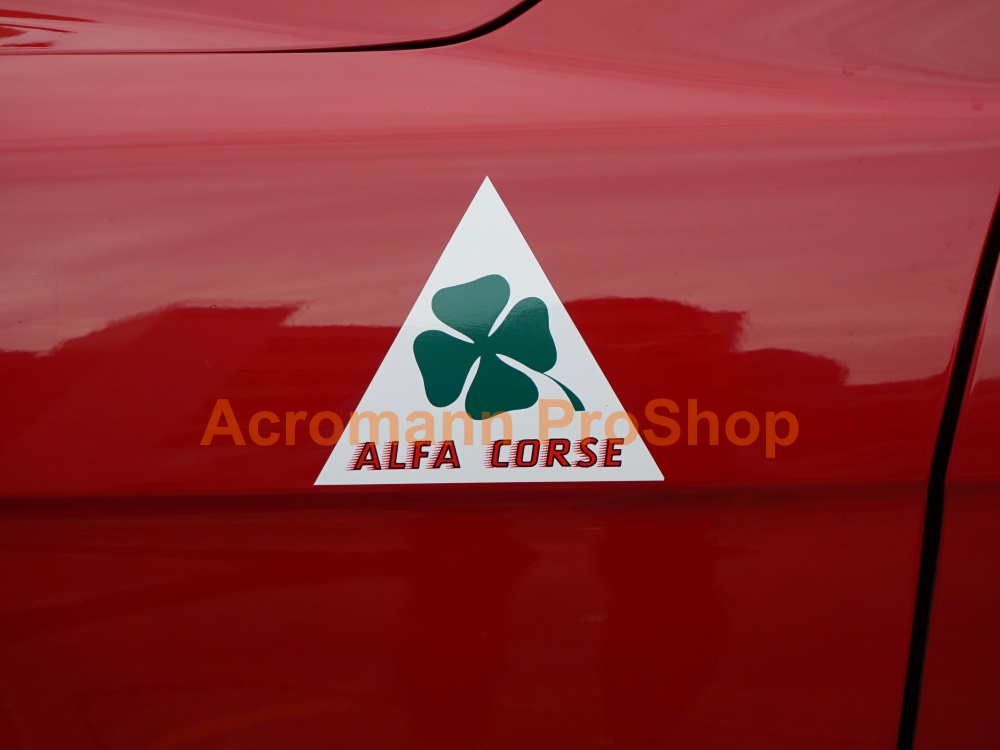 ALFA CORSE Clover Leaf 4inch Triangle Decal (Style#3) x 1 pair