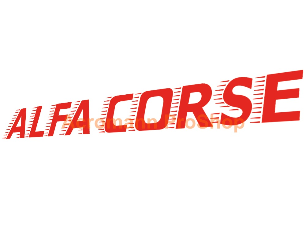 ALFA CORSE Windshield Decal (Style#2)