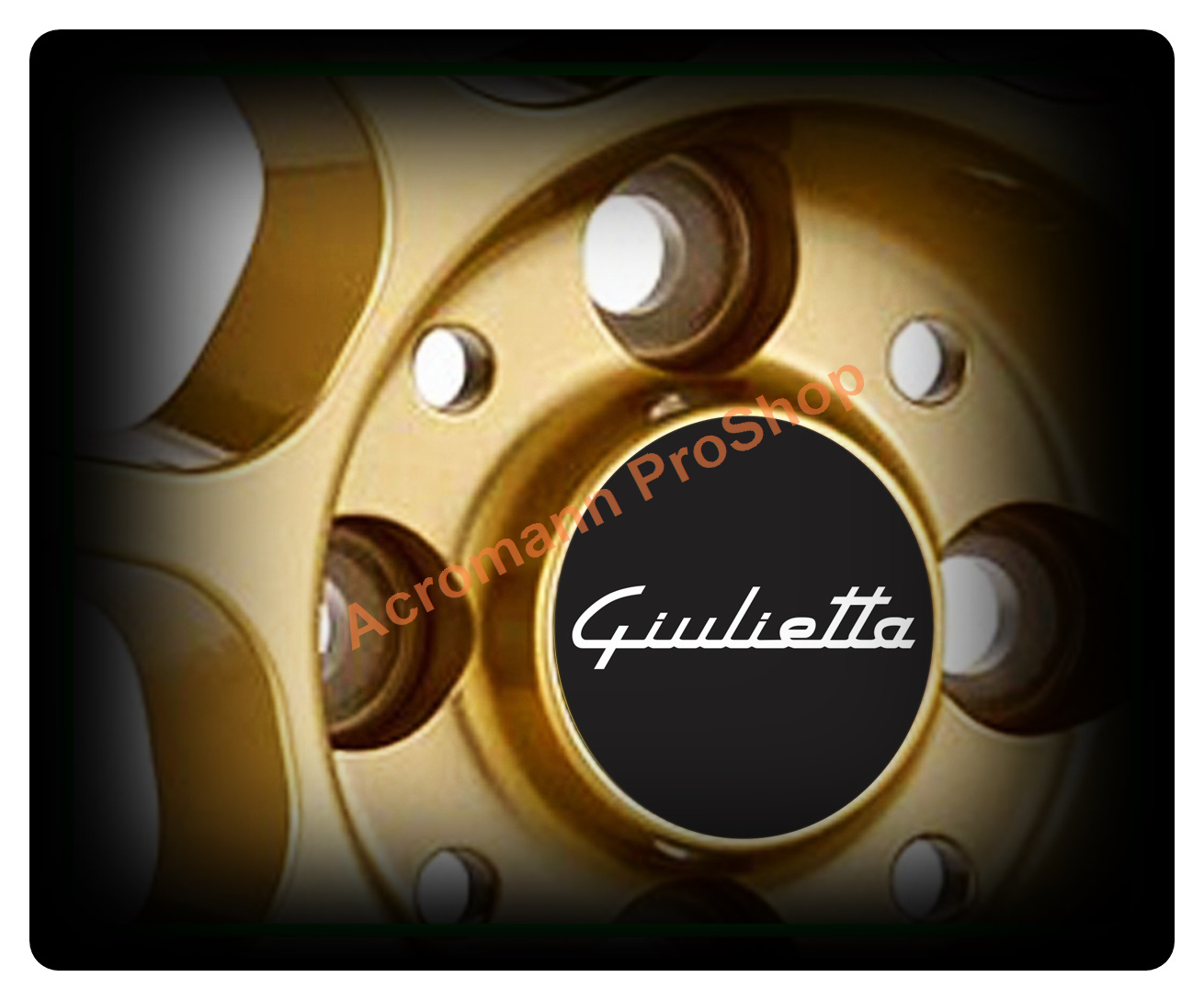 Alfa Romeo Giulietta Printed 2.2inch Wheel Cap Decal x 4 pcs