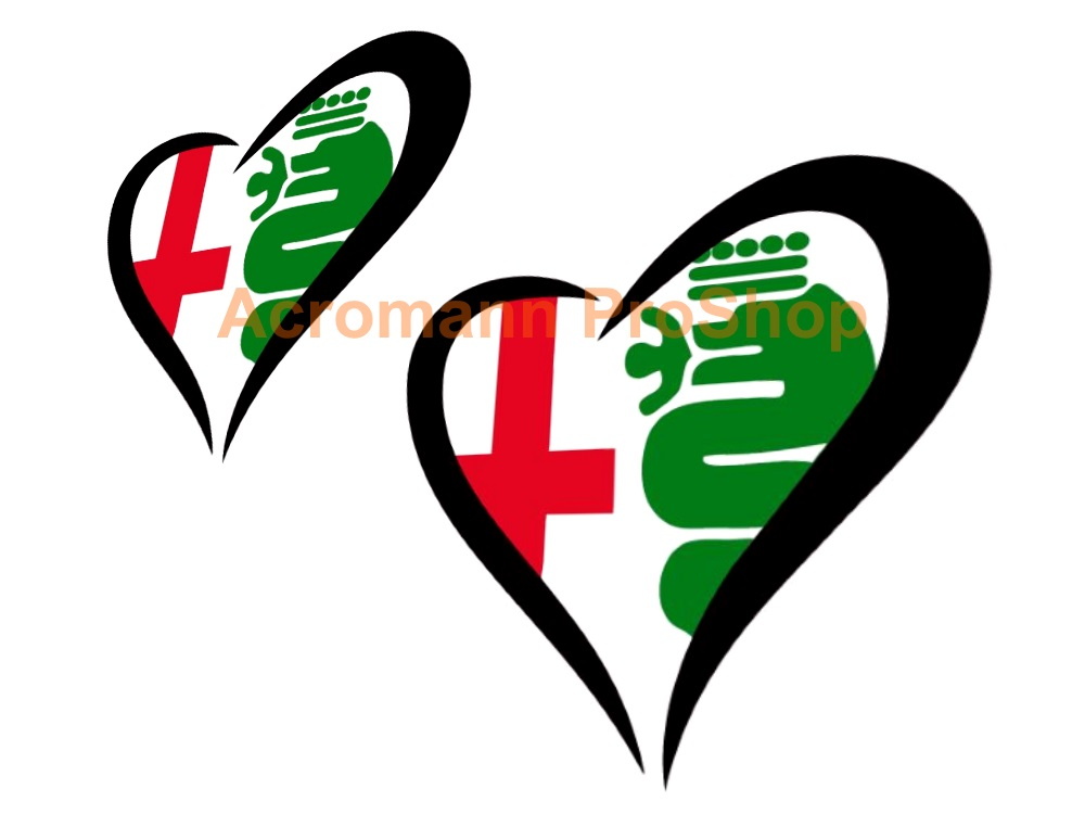 Cuore Sportivo 6inch Decal (Style#2) x 2 pcs