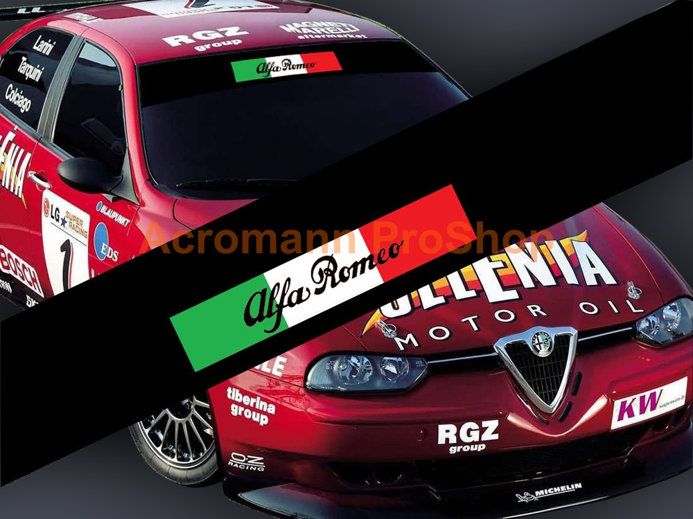 Alfa Romeo Windshield Decal (Style#10)
