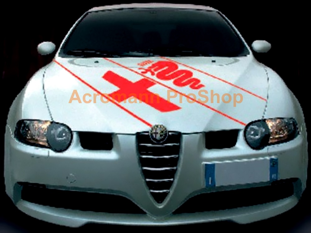 Alfa Romeo Logo Bonnet Diagonal Decal (Style#1) x 1 pc