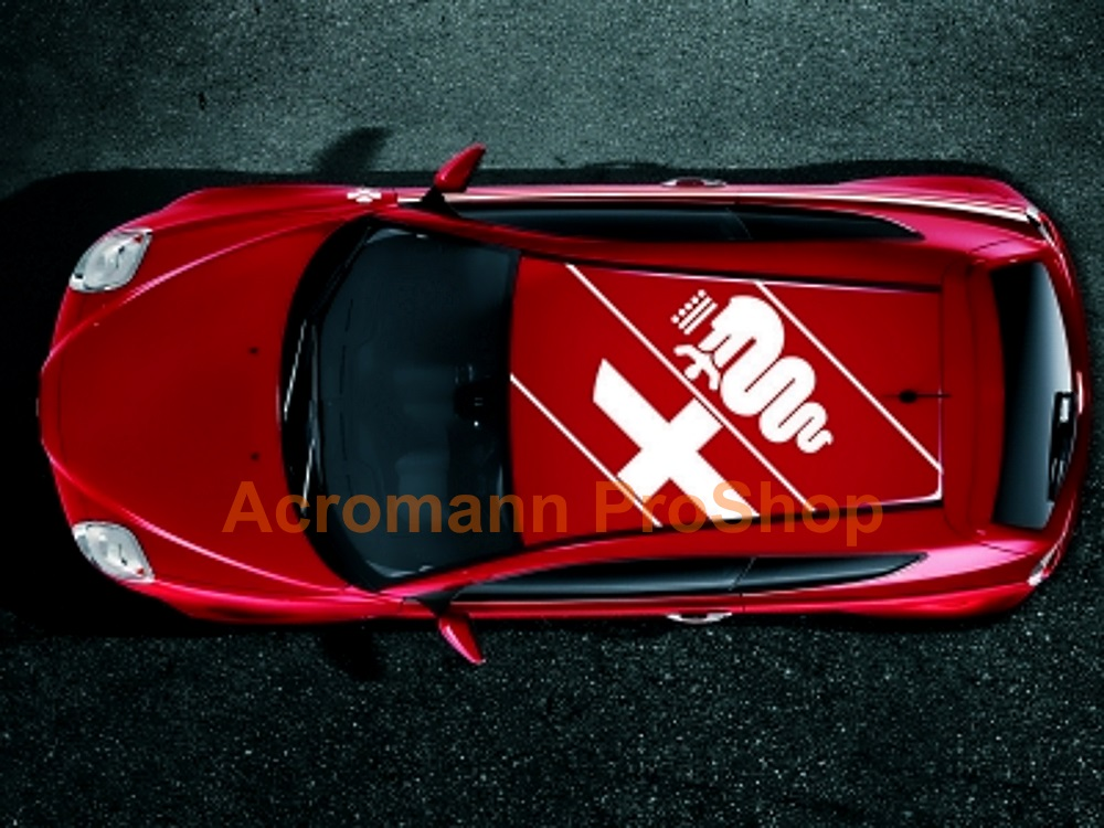 Alfa Romeo Logo Roof-top Diagonal Decal (Style#1) x 1 pc