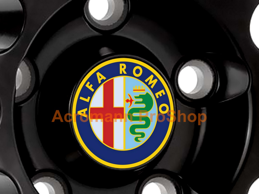 Alfa Romeo Printed 2.2inch Wheel Cap Decal (Style B) x 4 pcs