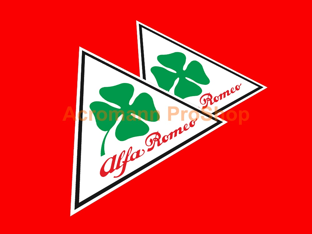 Clover Leaf 4inch Triangle Decal (Style#17) x 2 pcs