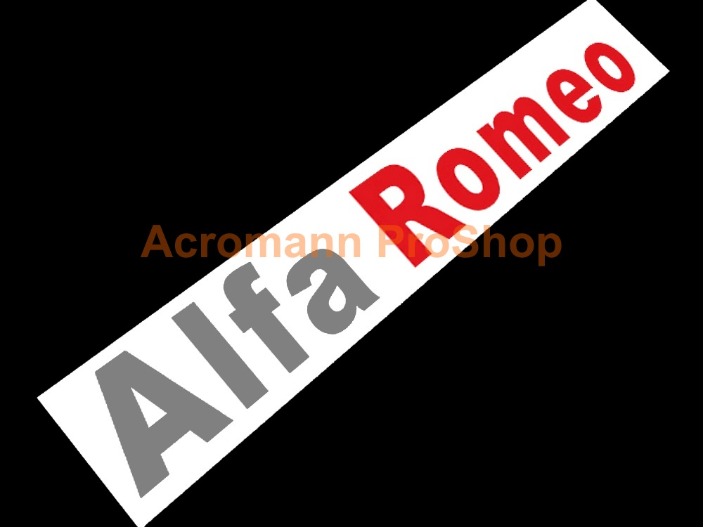 Alfa Romeo Windshield Decal (Style#12)