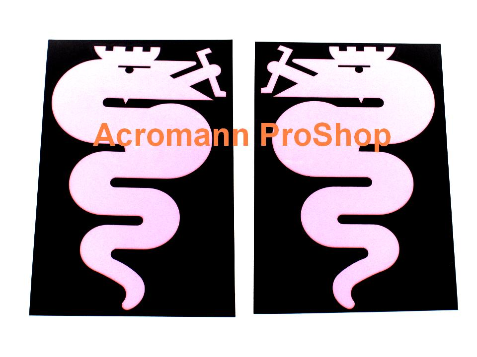 Alfa Romeo Snake (Serpent) 5inch Stencil Masking Decal x 1 pair