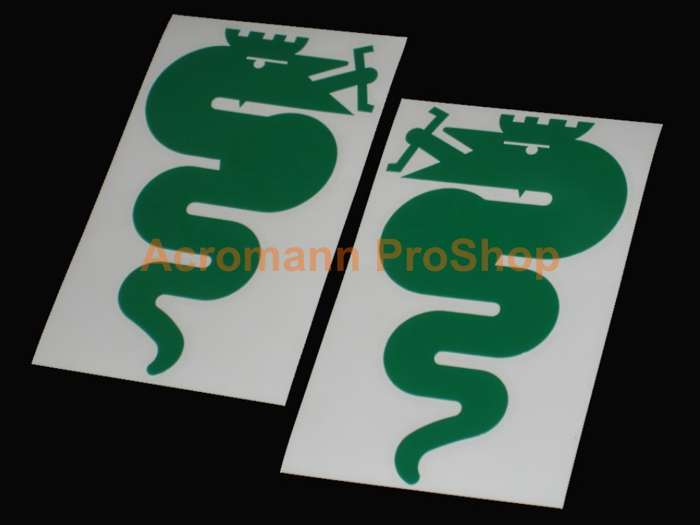 Alfa Romeo Snake (Serpent) 5inch Decal (Style#2) x 1 pair