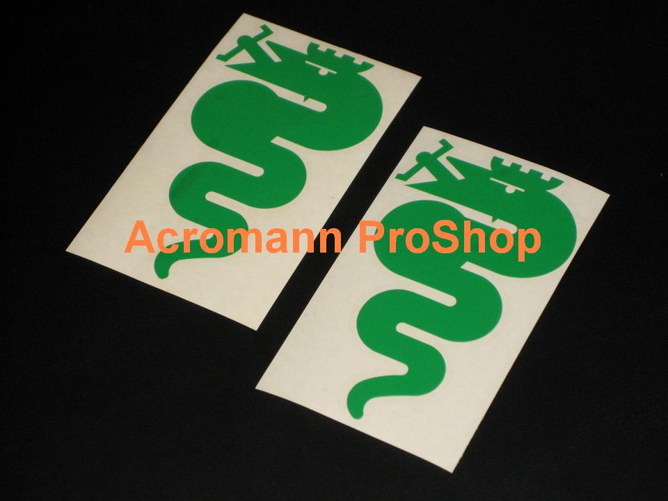 Alfa Romeo Snake (Serpent) 5inch Decal (Style#1) x 2 pcs