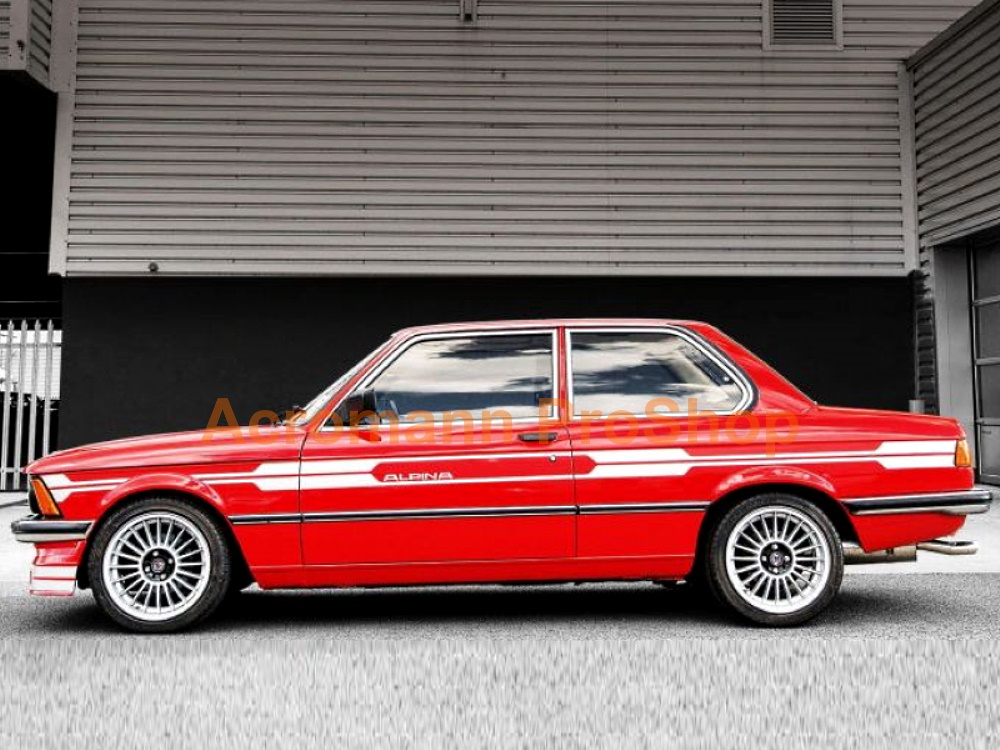 ALPINA BMW E21 C1 B6 323i Side Pinstripes Decals Sticker Kit #2