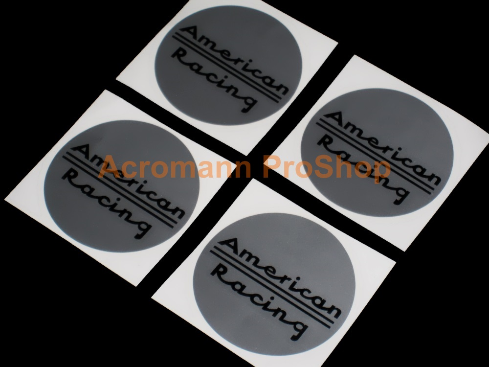 American Racing 2.2inch Wheel Cap Decal (Style#1) x 4 pcs