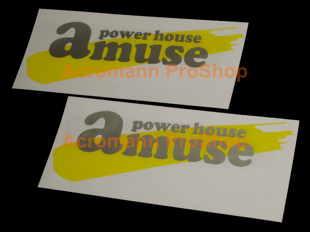 Amuse Power House 6inch Decal (Style#2) x 2 pcs