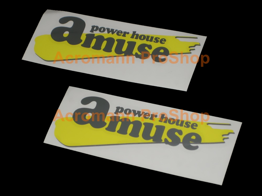 Amuse Power House 6inch Decal (Style#3) x 2 pcs
