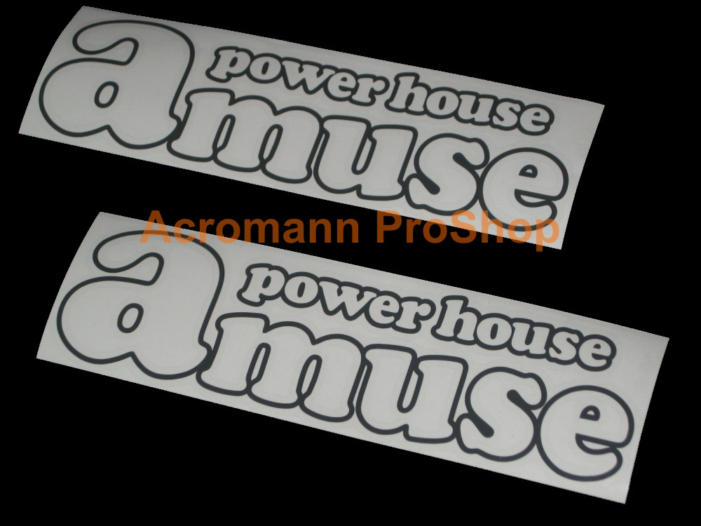 Amuse Power House 6inch Decal (Style#1) x 2 pcs