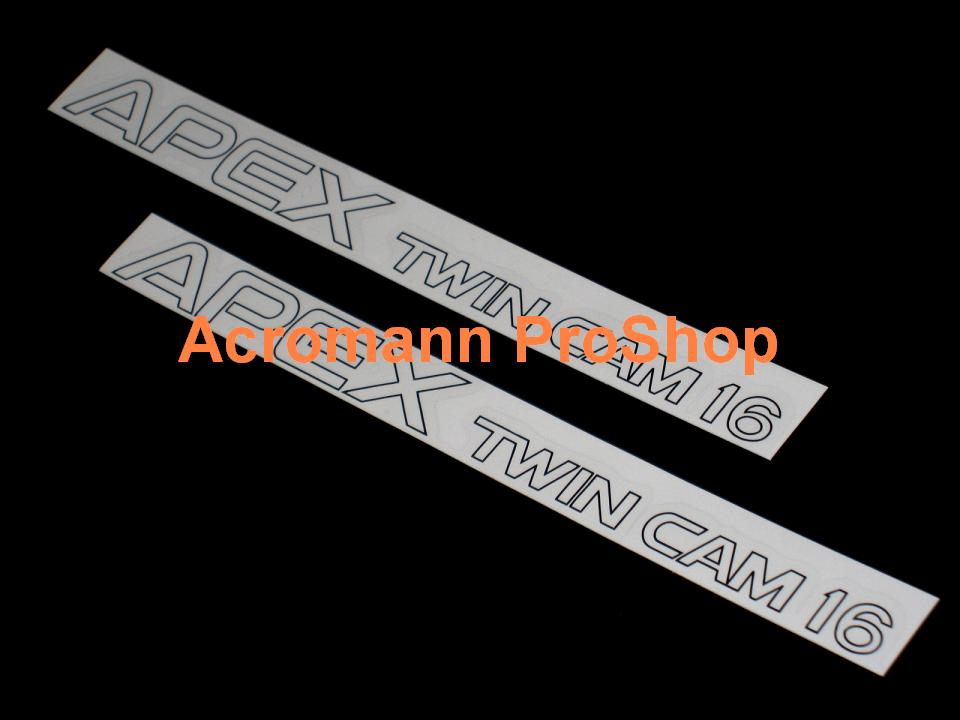 Apex Twin Cam 16 (AE86) Initial D 8.5inch Decal (Style#2) x 2pcs