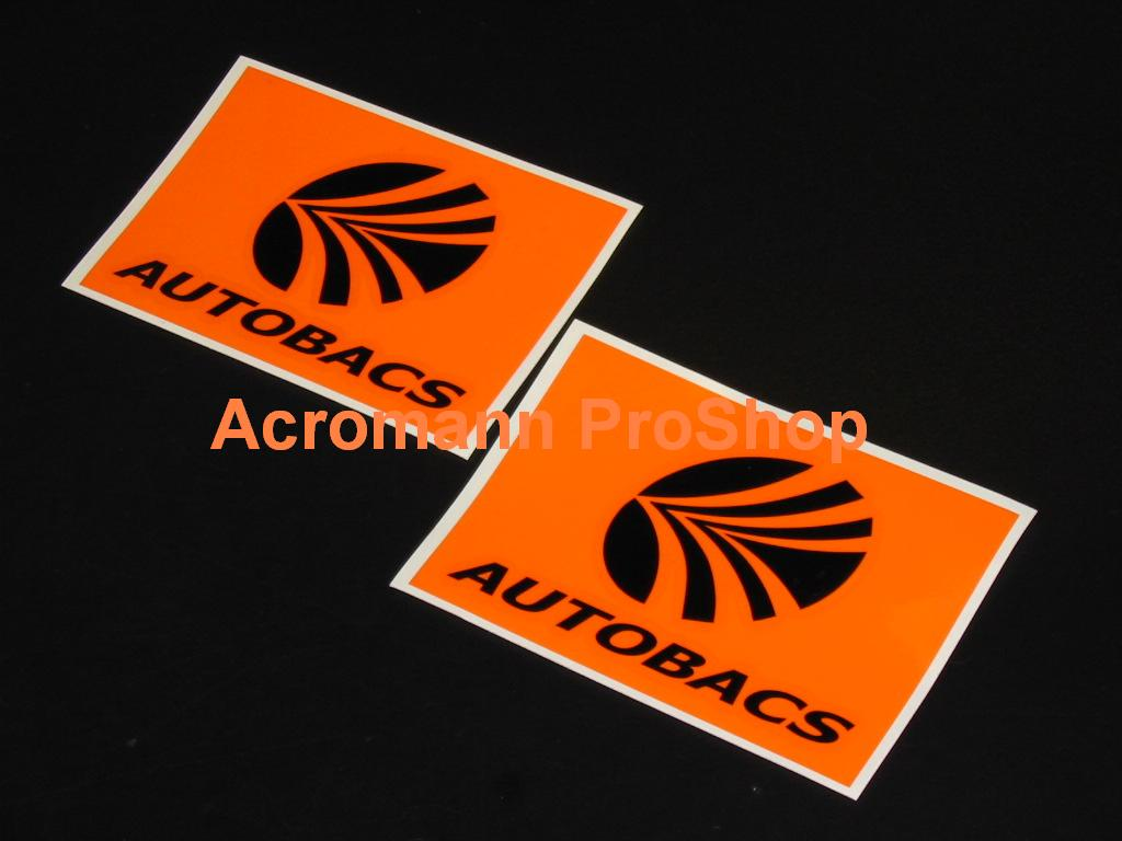 AUTOBACS (D1GP Sponsor) 4inch Decal x 2 pcs