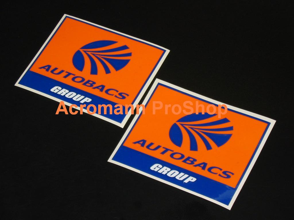 AUTOBACS Group (D1GP Sponsor) 4inch Decal x 2 pcs