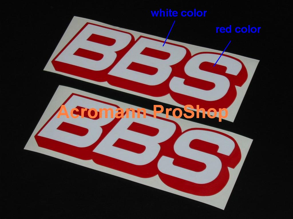 BBS 6inch Decal (Style#2) x 2 pcs