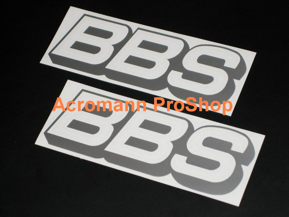 BBS 6inch Decal (Style#1) x 2 pcs