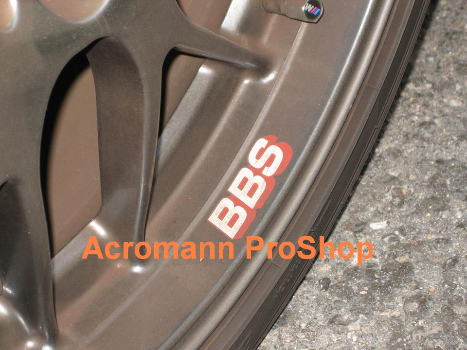 BBS 2 3/8inch Alloy Wheel Decal (Style#3) x 4 pcs