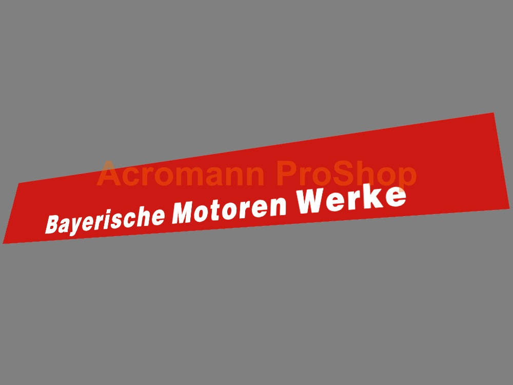 BMW Bayerische Motoren Werke Windshield Decal (Style#1)
