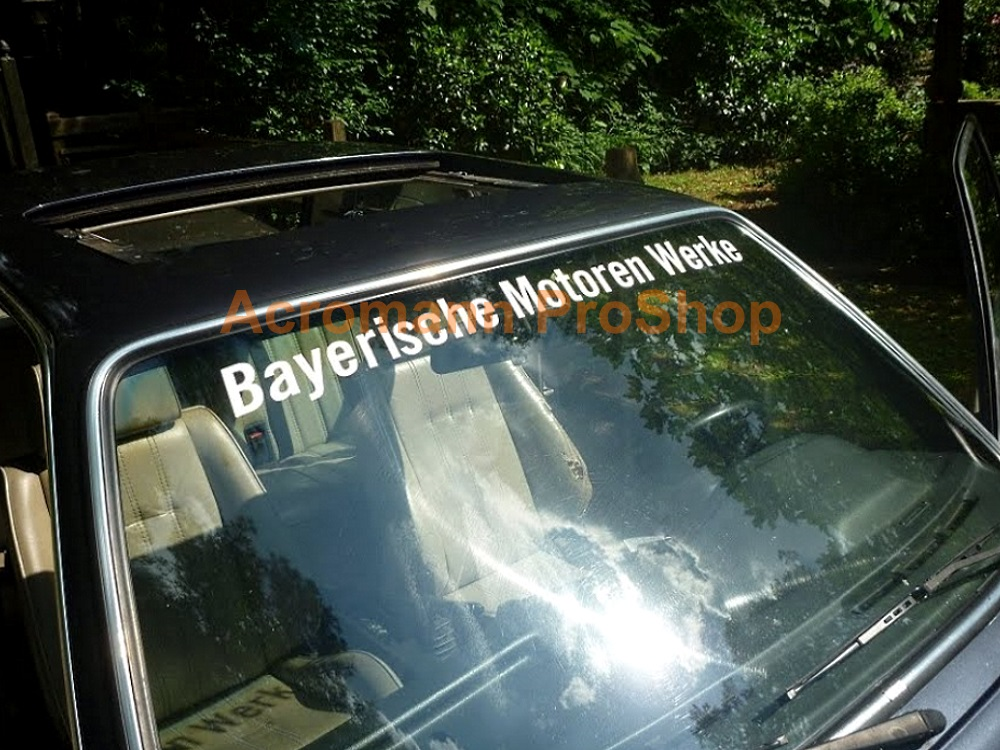 BMW Bayerische Motoren Werke Windshield Decal (Style#2)