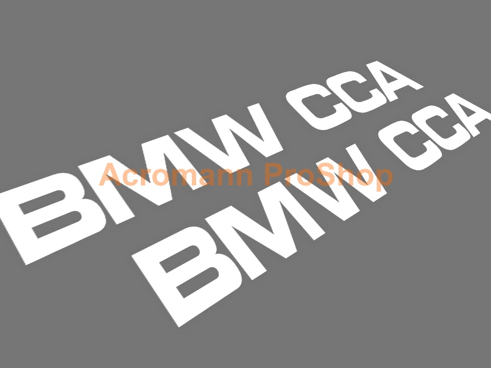 BMW CCA 6inch Decal (Style#2) x 2 pcs