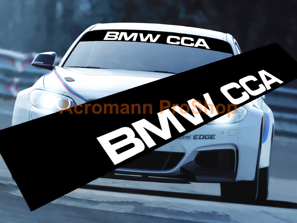 BMW CCA Windshield Decal (Style#1)