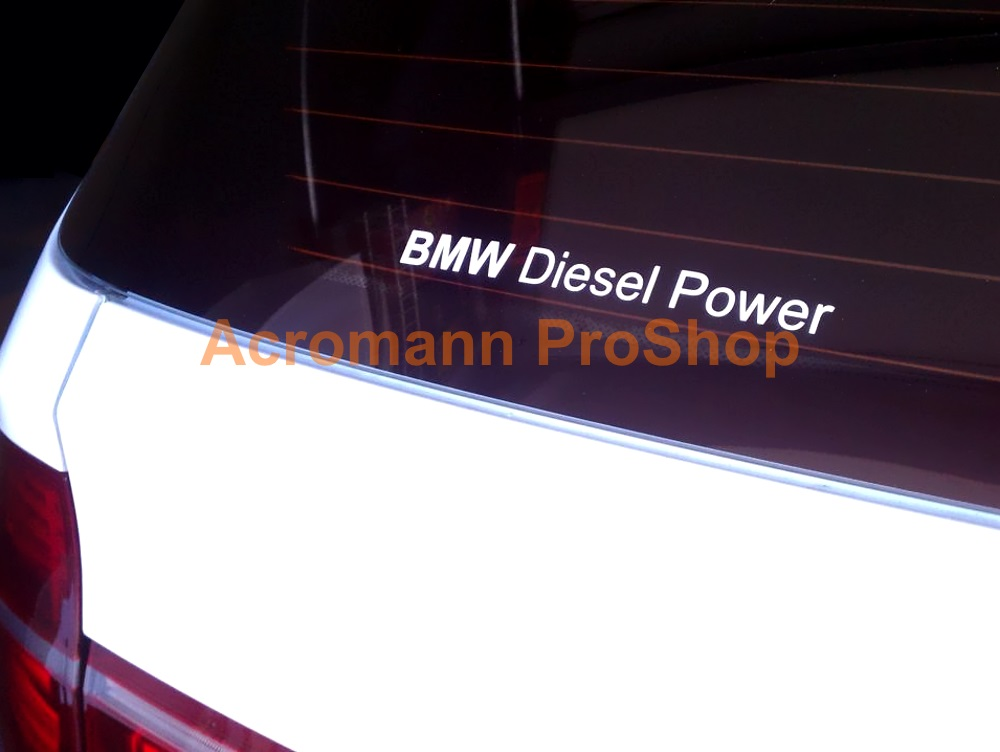 BMW Diesel Power 6inch Decal x 2 pcs