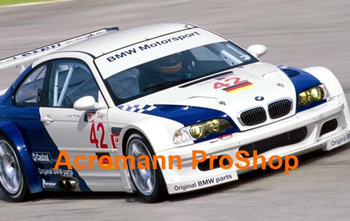 BMW E46 M3 GTR 3-Color Checkered Flag Bonnet Decal x 1 pair