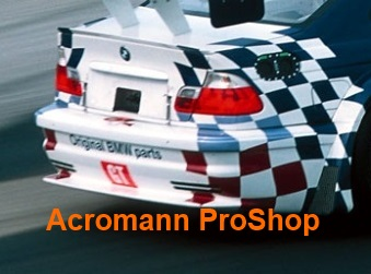 BMW Motorsport Checkered Flag Rear Fender Decal x 1 pair