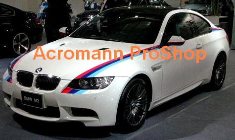 BMW E92 MColor Bonnet Fender Side Stripe Decal (Style#1) x 1pair