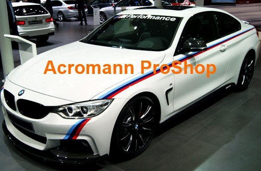 BMW F32 M Performance Side Stripe Decal (Style#1) x 1 pair
