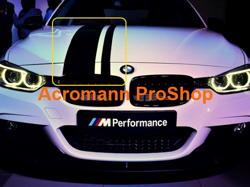 BMW M Performance Style Whole Body Stripes x 1 set (middle)
