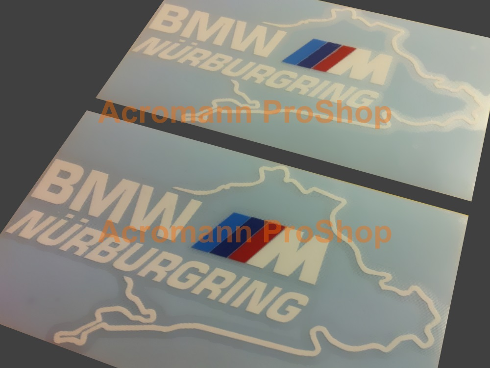 BMW M (power) logo Nurburgring 4.5inch Decal (Style#2) x 2 pcs