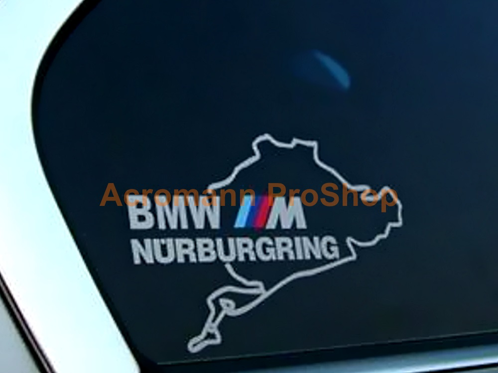 BMW M (power) logo Nurburgring 4.5inch Decal (Style#1) x 2 pcs